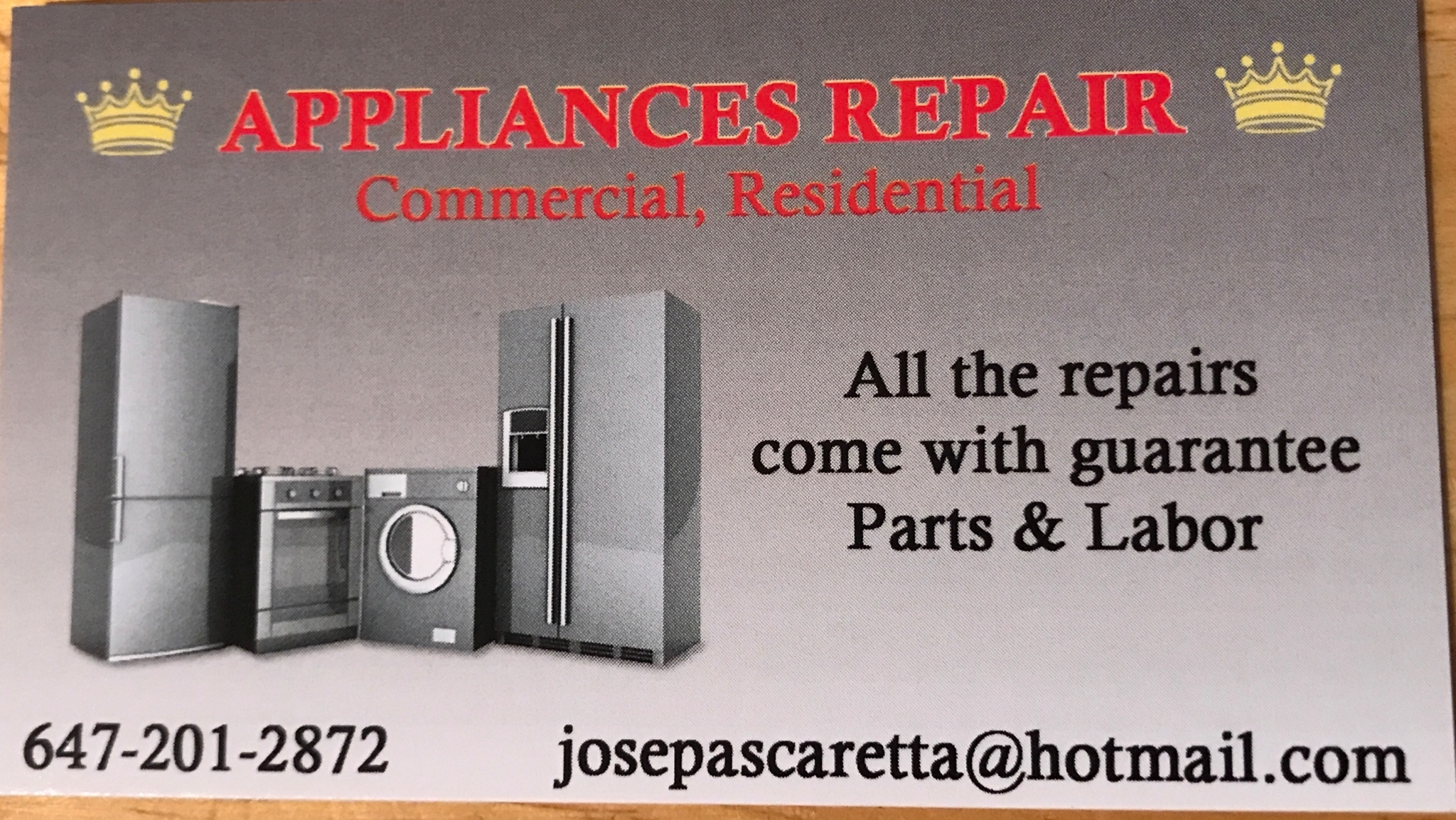 Jose Appliances Repair in Toronto