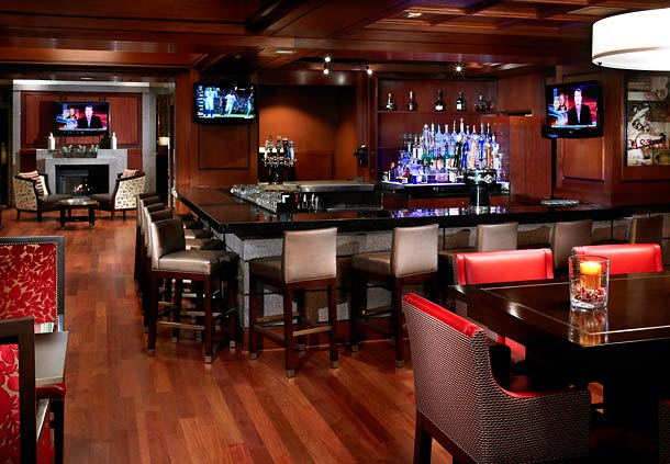 Connect with friends or unwind after work at Jake's bar. Hang out with your whole group at our communal table, or enjoy one-on-one time in one of our smaller sitting areas.