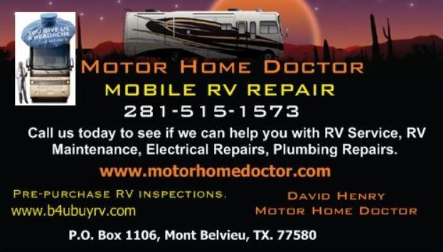 Motor home doctor rv repair shop and mobile rv service for Motor repair near me