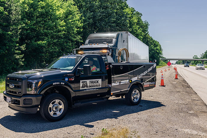 TA Truck Service RoadSquad roadside assistance is available to get your truck back on the road 24/7/365.