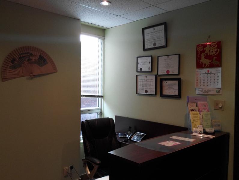 A 1 Clinique Chinoise D'Acupuncture Massothérapie et Herbologie De Montréal à Montréal: reception area