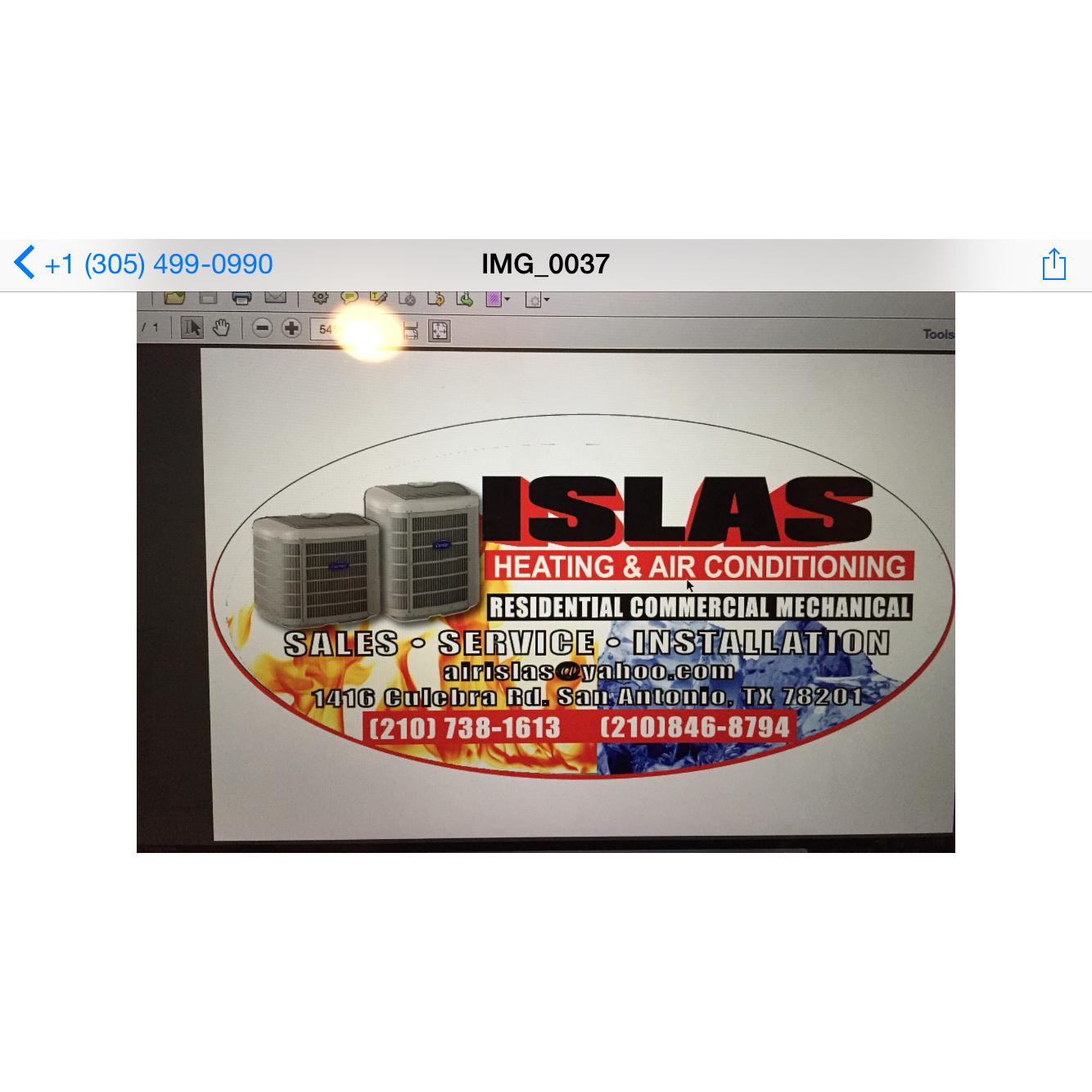 Islas Air Conditioning Heating TACLB61927E