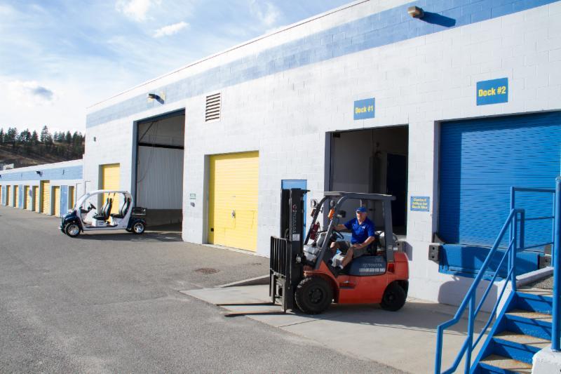 Space Centre Self Storage in Kelowna: Loading Docks