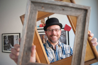 Artist, Photographer and Friend, Storrs Bishop Looking Well Framed in His New Glasses.
