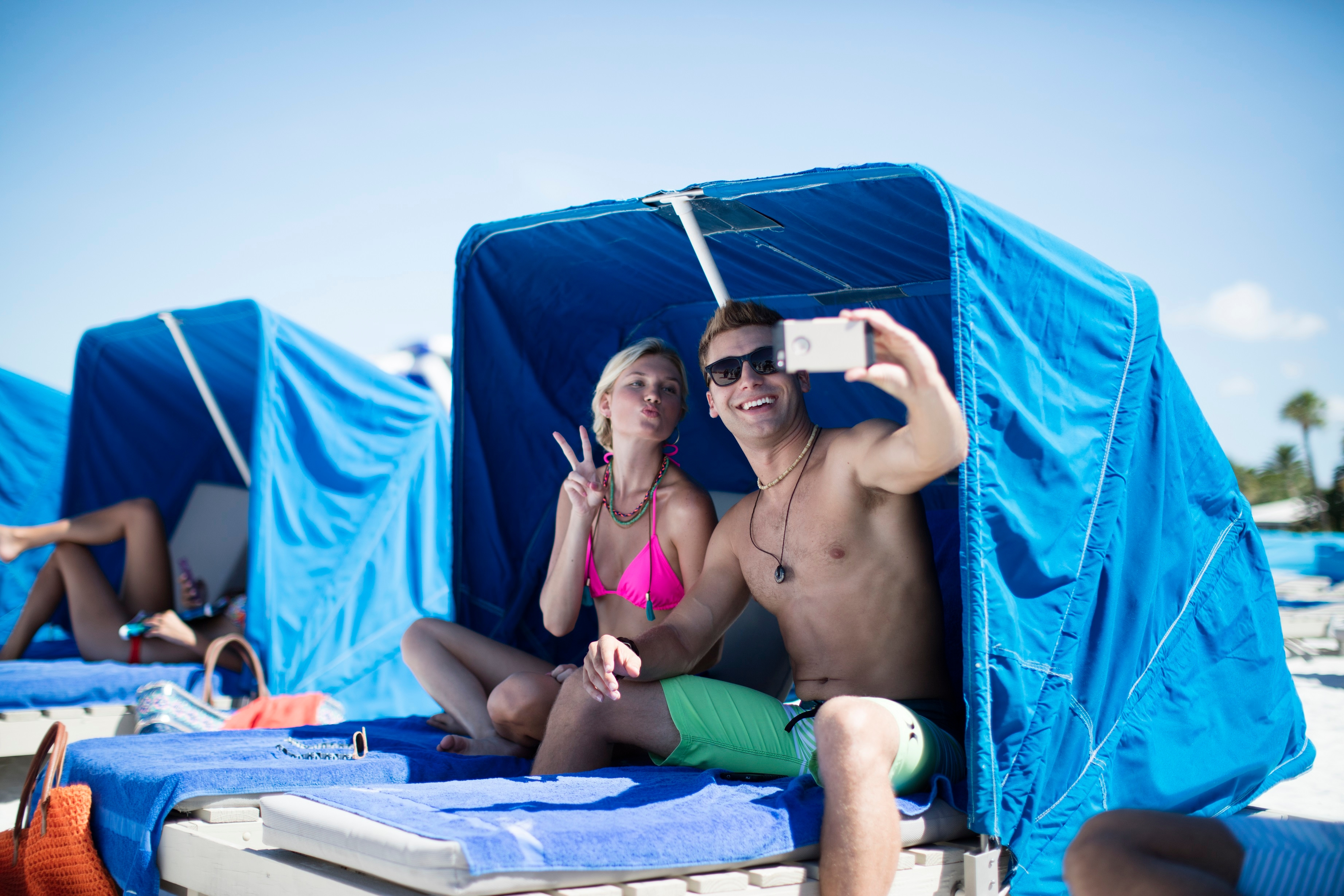 TradeWinds Island Grand offers cabanas right on St. Pete Beach.