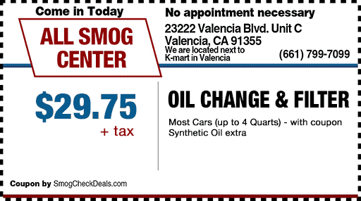 Discount smog center coupon