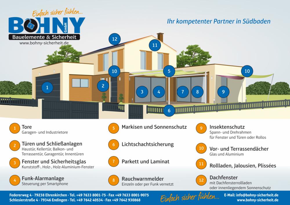 Bohny Bauelemente & Sicherheit GmbH, Federerweg 4 in Ehrenkirchen