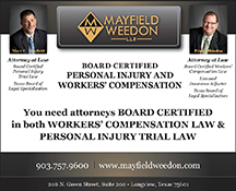 Mayfield Weedon, LLP - ad image