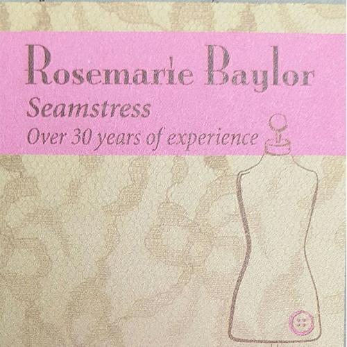 Rosemarie Baylor, Seamstress