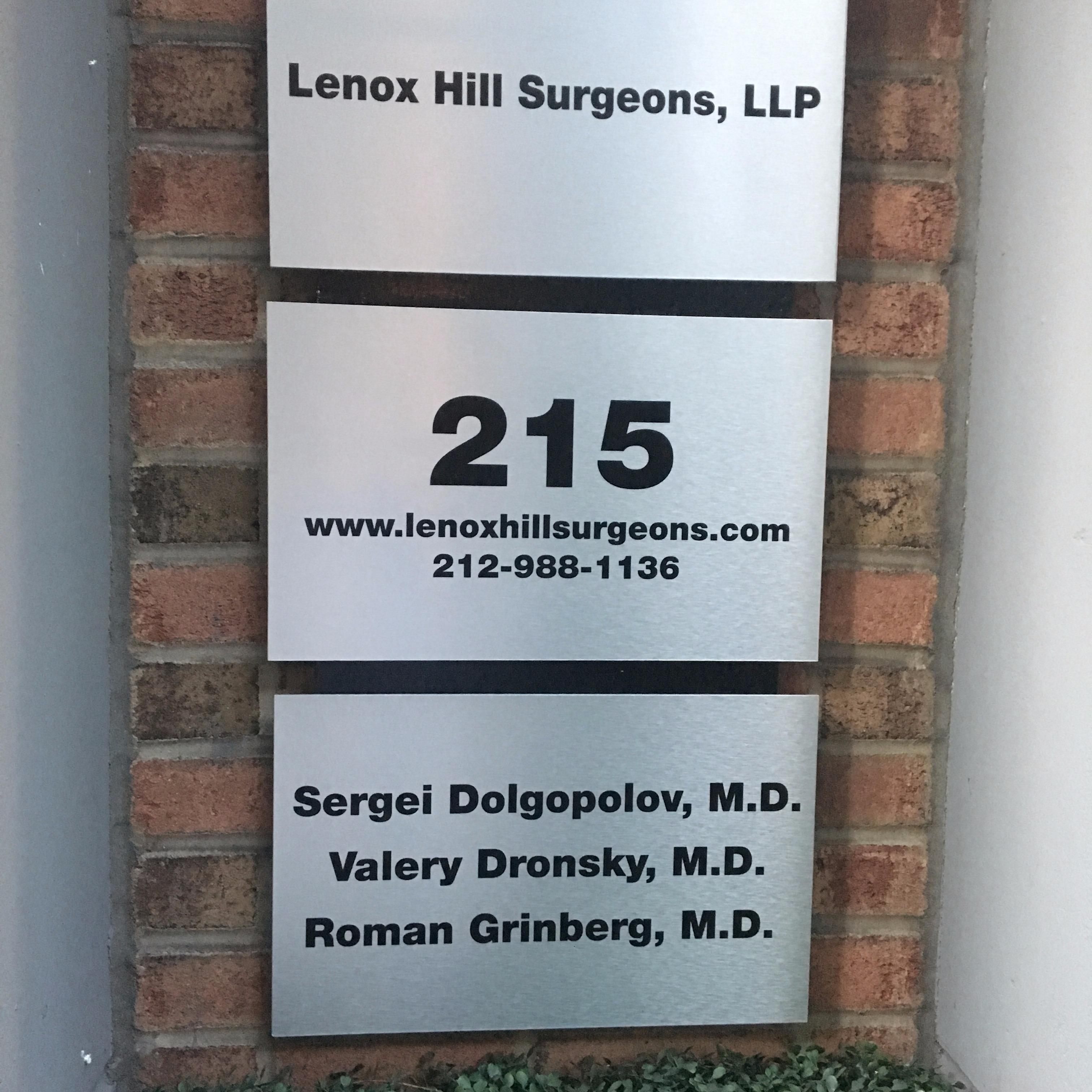 Valery Dronsky MD, FACS @ Lenox Hill Surgeons, LLP