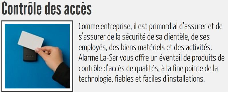 Alarme La-Sar Inc à La Sarre