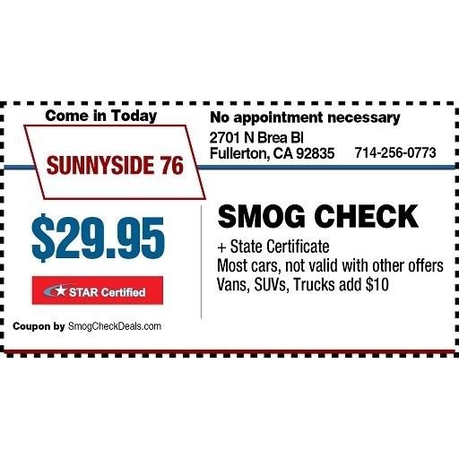 Sunnyside 76 Smog Check Auto Repair
