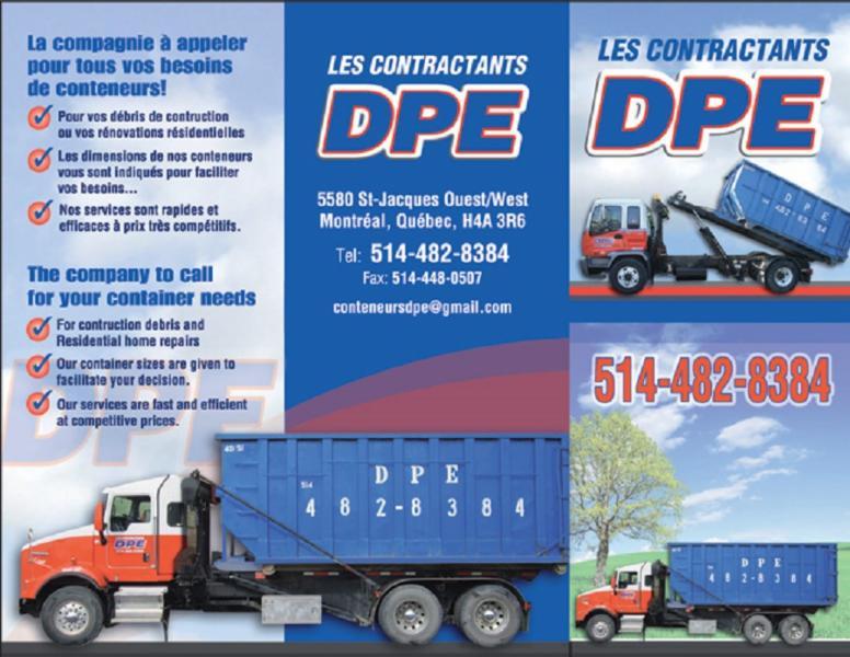 Conteneurs DPE à Montréal