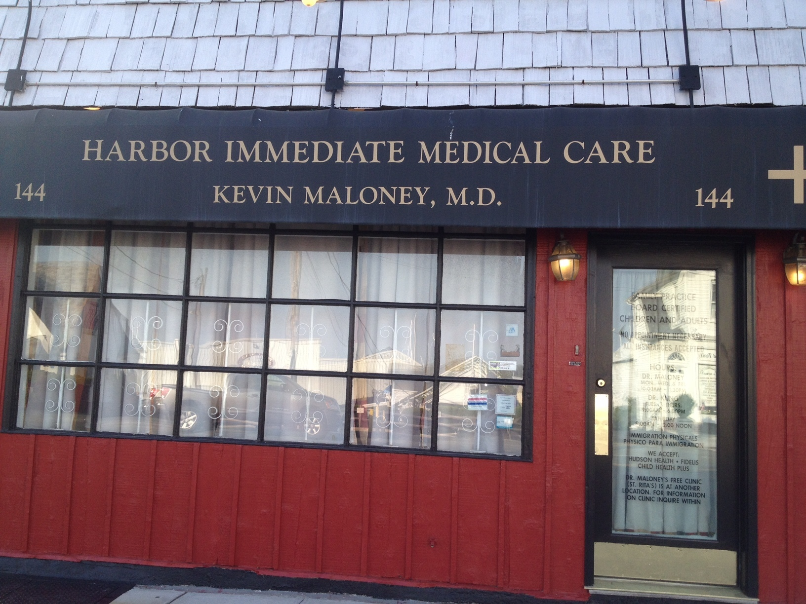Dr Kevin Maloney Harbor Immediate Urgent Medical Care Mamaroneck -Walk-in MWF 9am-6pm
