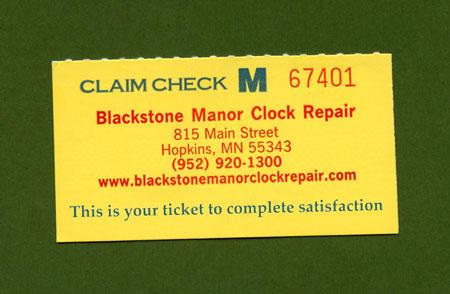 Blackstone Manor Clock Repair image 5