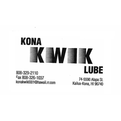 Kona Kwik Lube