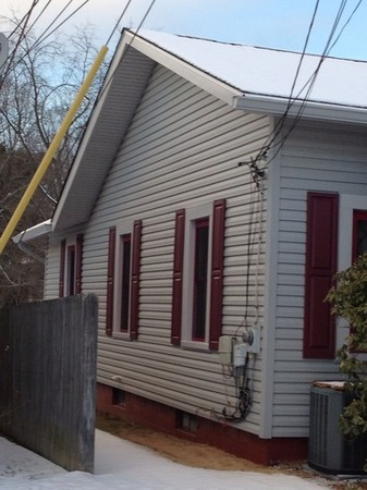 New siding on a home in Pittsburgh, Pennylvania.