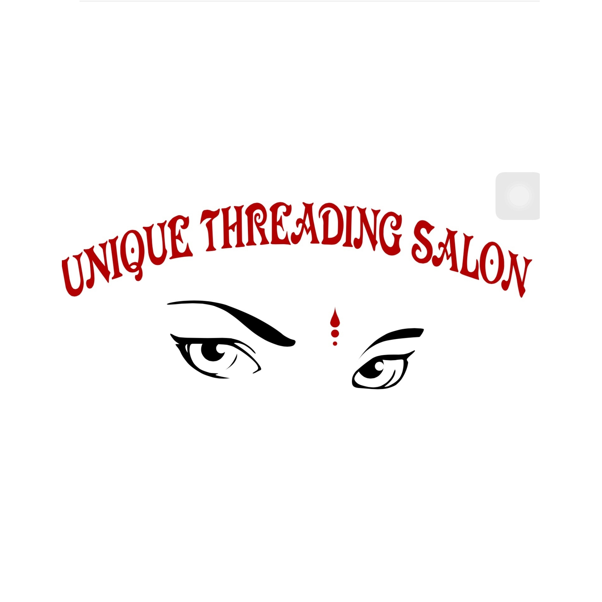 Unique threading salon