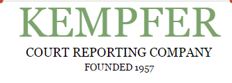 Kempfer Court Reporting Company - ad image