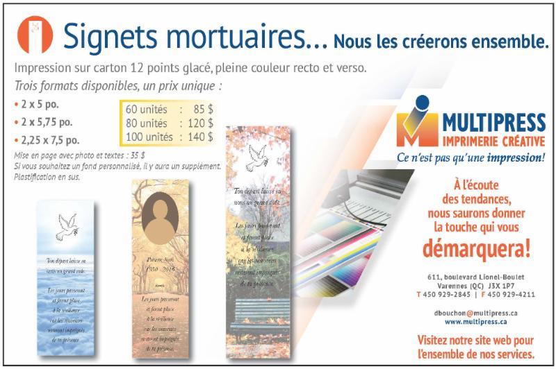 Imprimerie Multipress Inc à Varennes