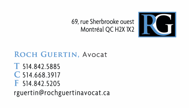 Roch Guertin Avocat à Montréal