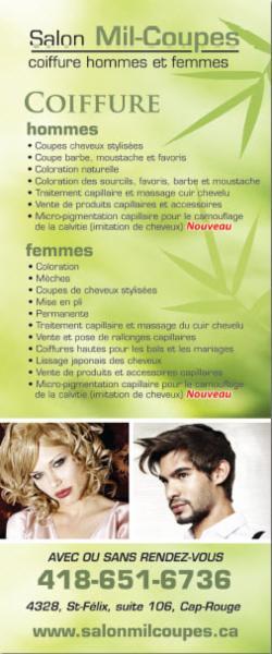 Salon Mil-coupes - Coiffure et Esthétique à Québec