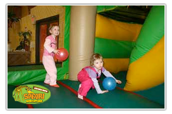 Bouncy house fun at Long Island East End indoor playground Riverhead, NY