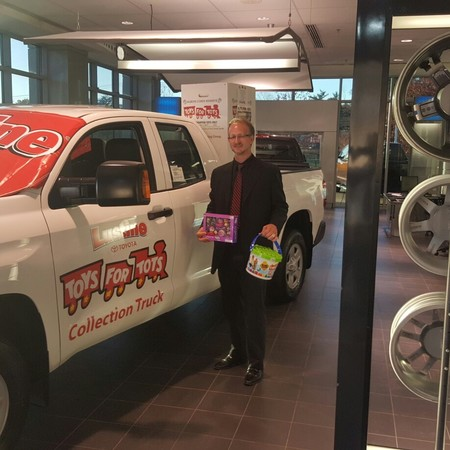 Operation Lustine Toyota Toys For Tots Day 2 Is Going On...Thank You Jeramy  Routh For Your Donations
