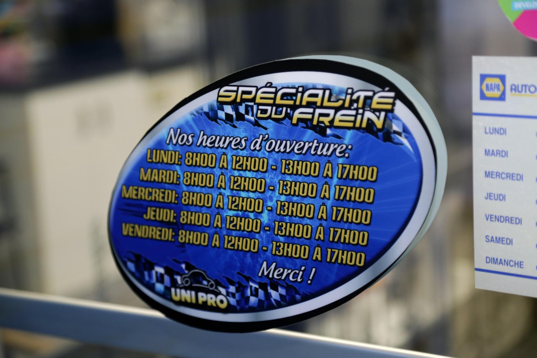 Spécialité du Frein Saint-Félicien Inc à Saint-Félicien