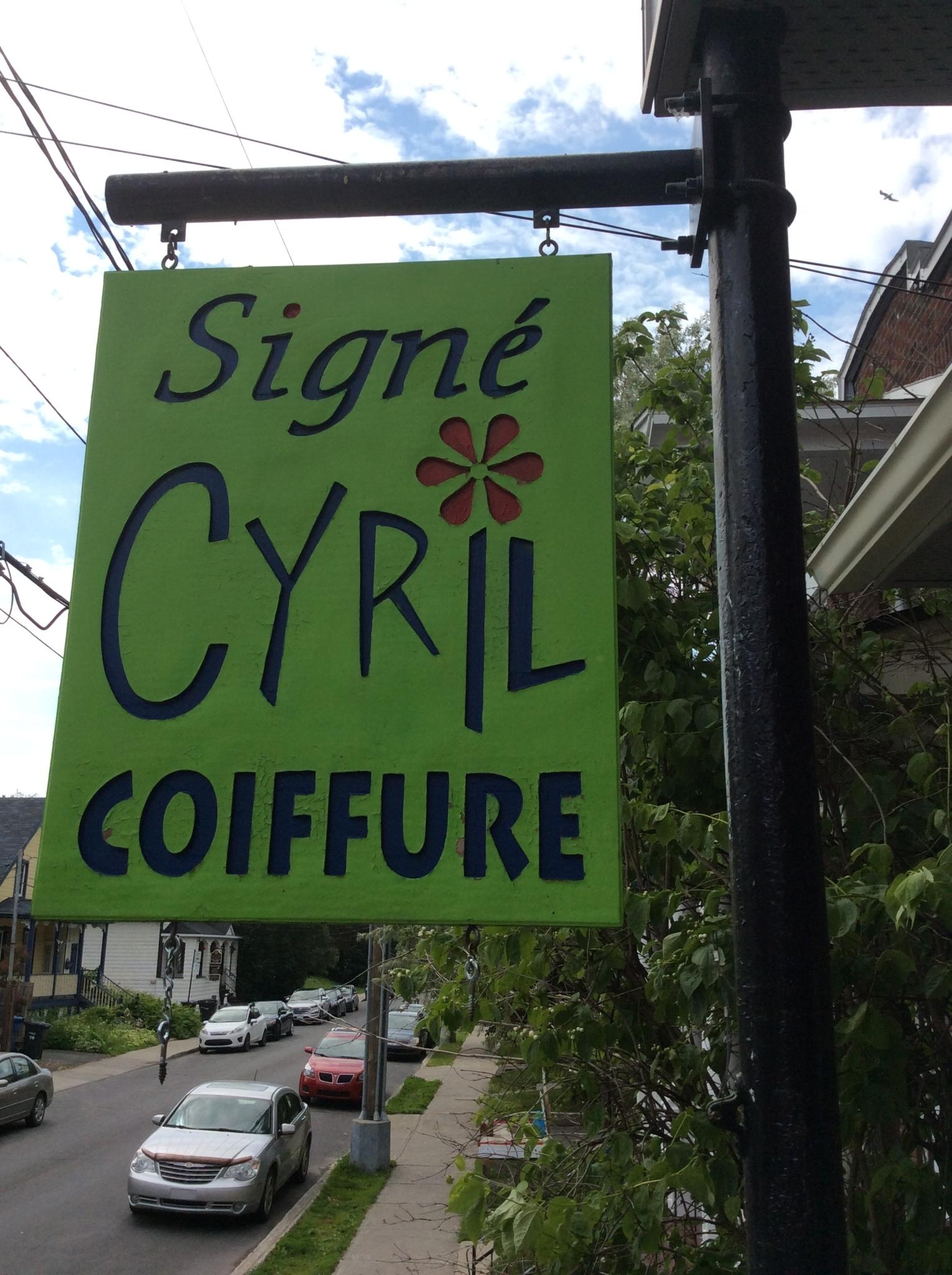 Signé Cyril Coiffure à Longueuil