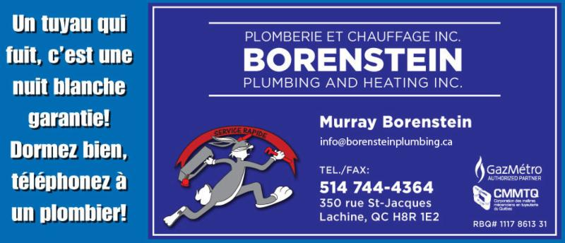 Borenstein Plumbing & Heating Inc à Lachine