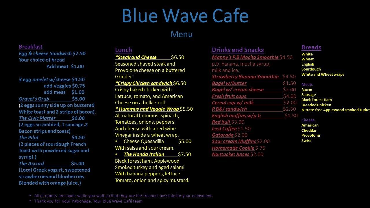 Z Cafe Menu Worcester Ma