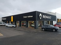 Outside the Renault Edinburgh West dealership