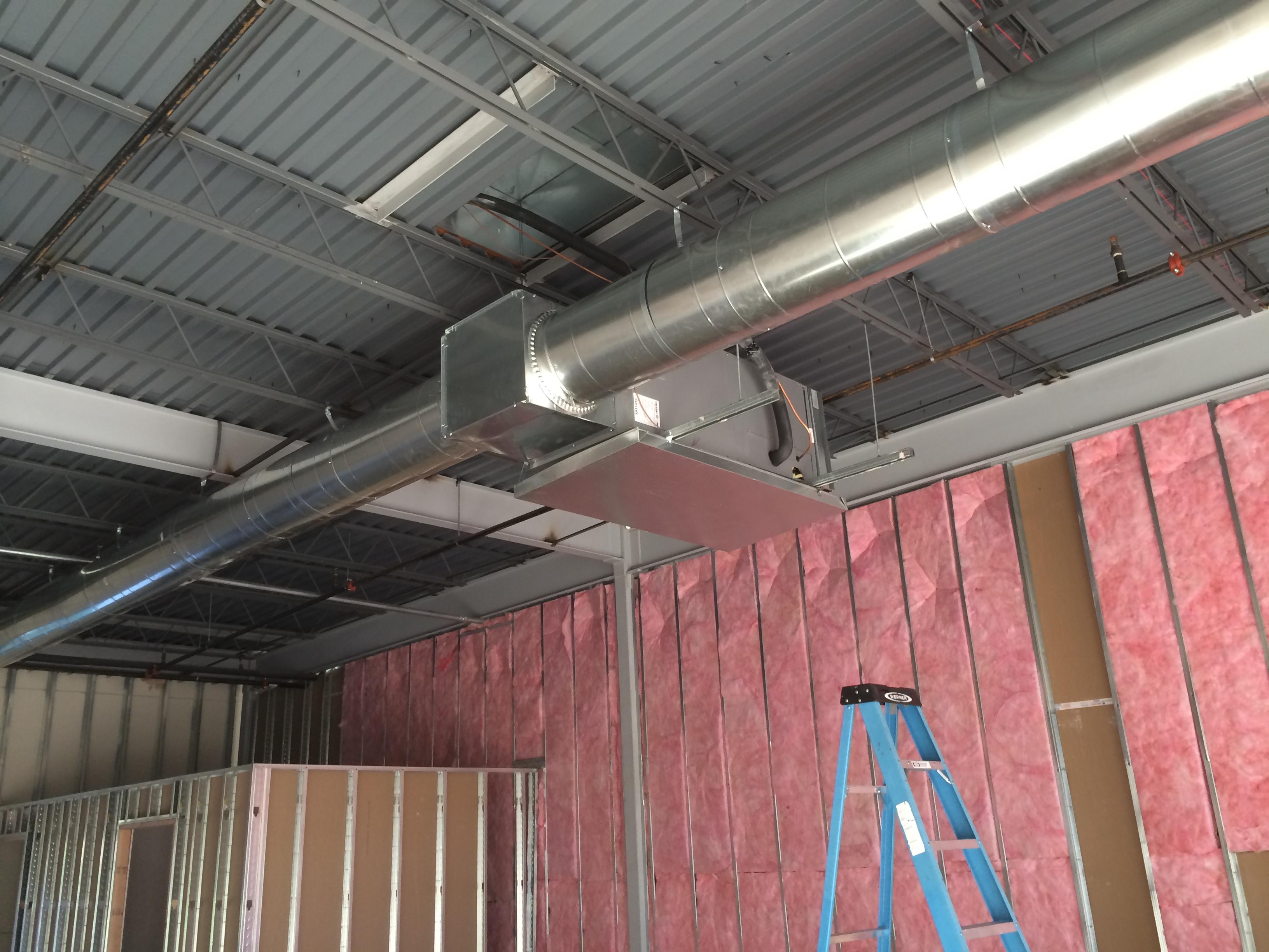 More commercial HVAC installation