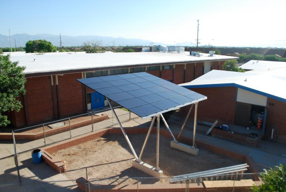Donated solar project in conjunction with Tucson Electric Power for Sunnyside  High School.  Provides science educational opportunity for students.