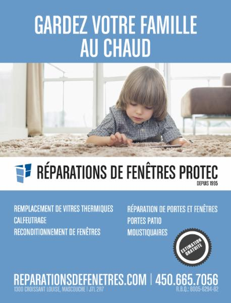 R parations de fen tres protec in laval quebec h7a 2c3 for Reparation fenetre quebec