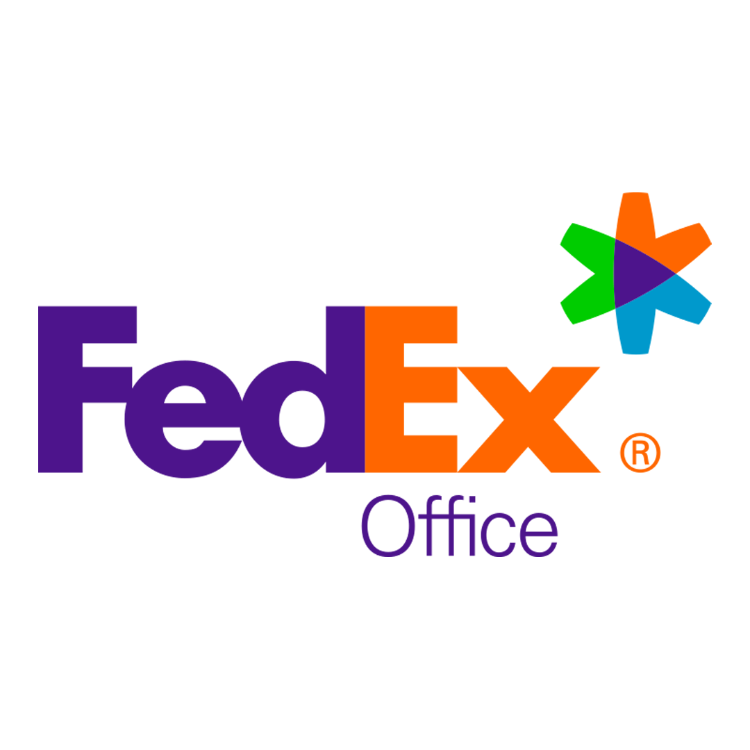 FedEx Office purple orange Logo