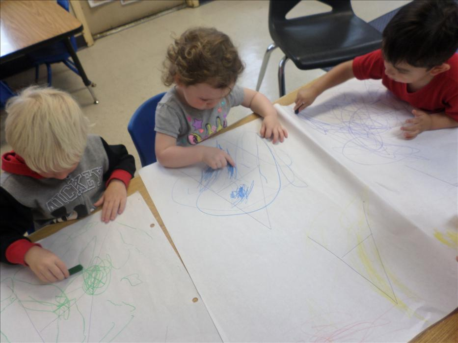 Learning about colors and shapes with Miss Vickie in Discovery Preschool