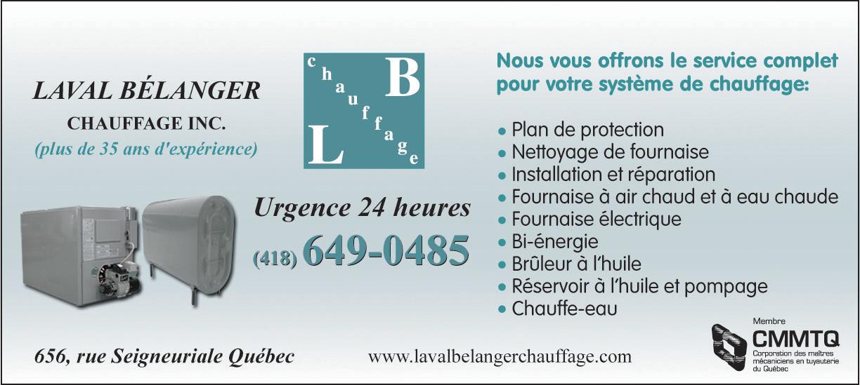Laval Bélanger Chauffage Inc à Québec