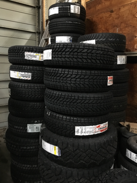 Miles Tire Services Ltd in Port Coquitlam: Winter Tires ready to be installed by our experienced tire experts before the snow flies!