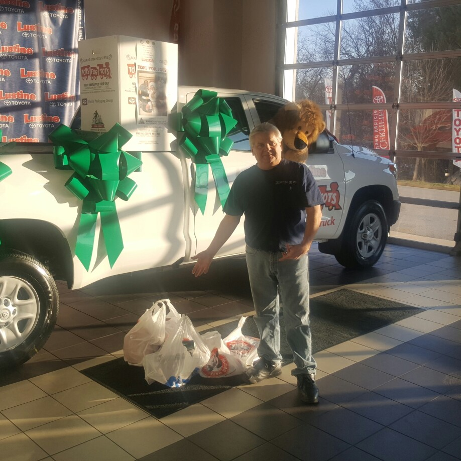 Operation Toys For Tots Going Strong At Lustine Toyota. Thank You Trip  Pitts For Your