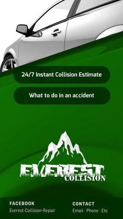 Everest Collision Repair phone app, convenient for all iPhone users!