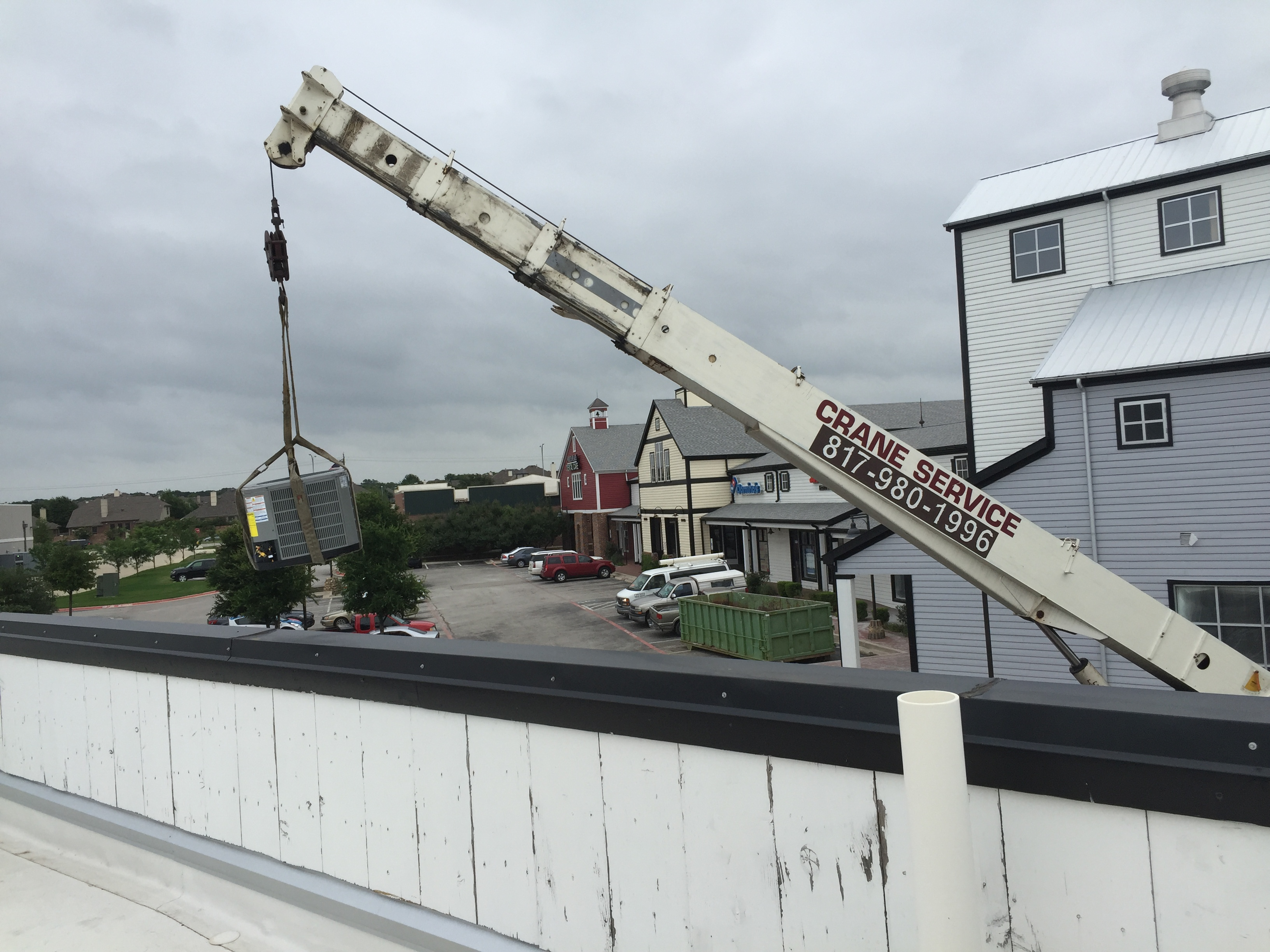 Getting a new unit on the roof