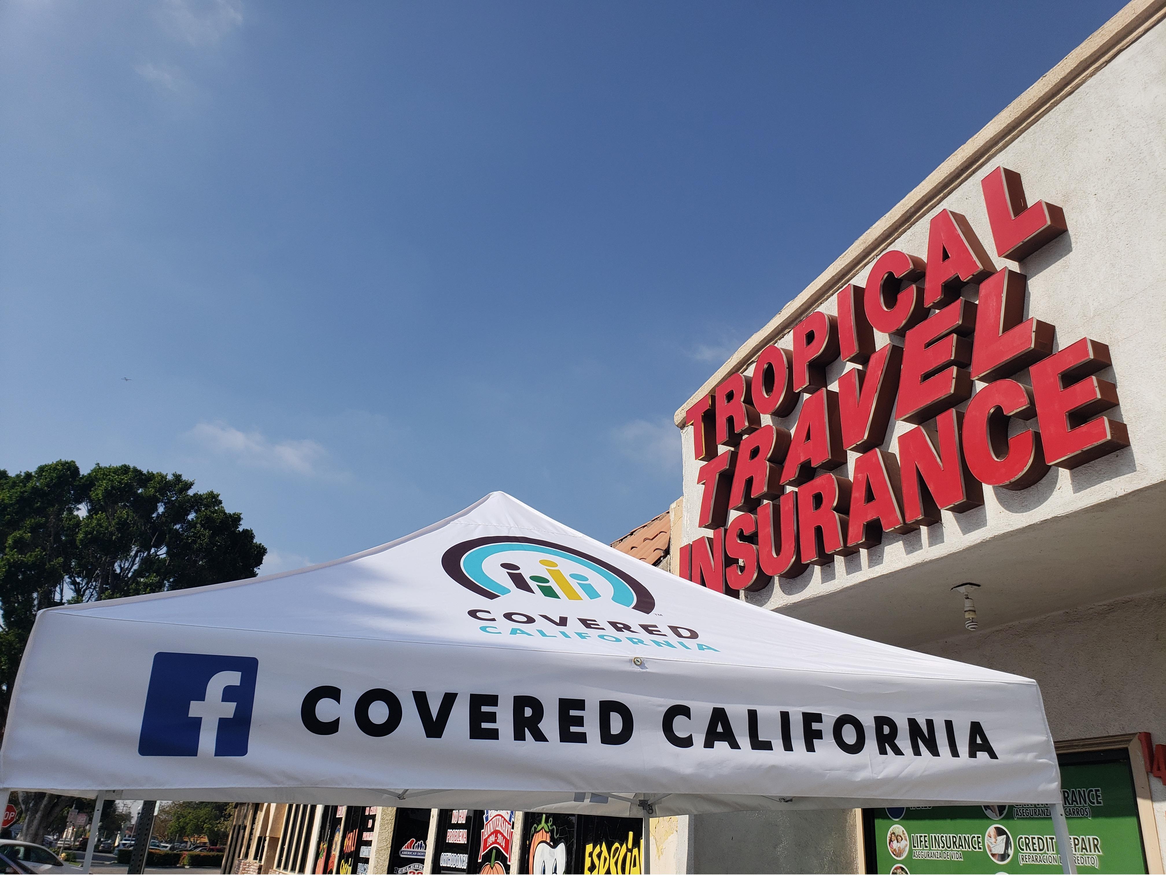 covered california enrollment tent