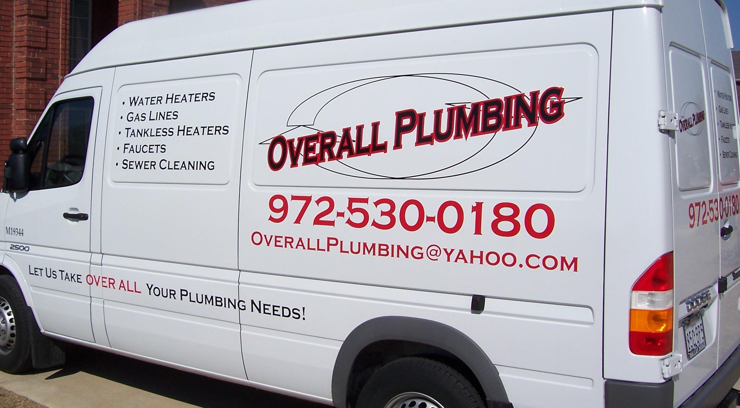 Overall Plumbing, LLC - ad image