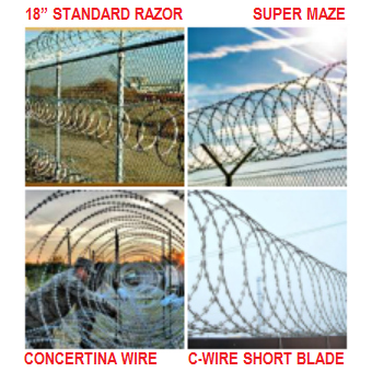 US  Razor Wire  Installation available easy quote