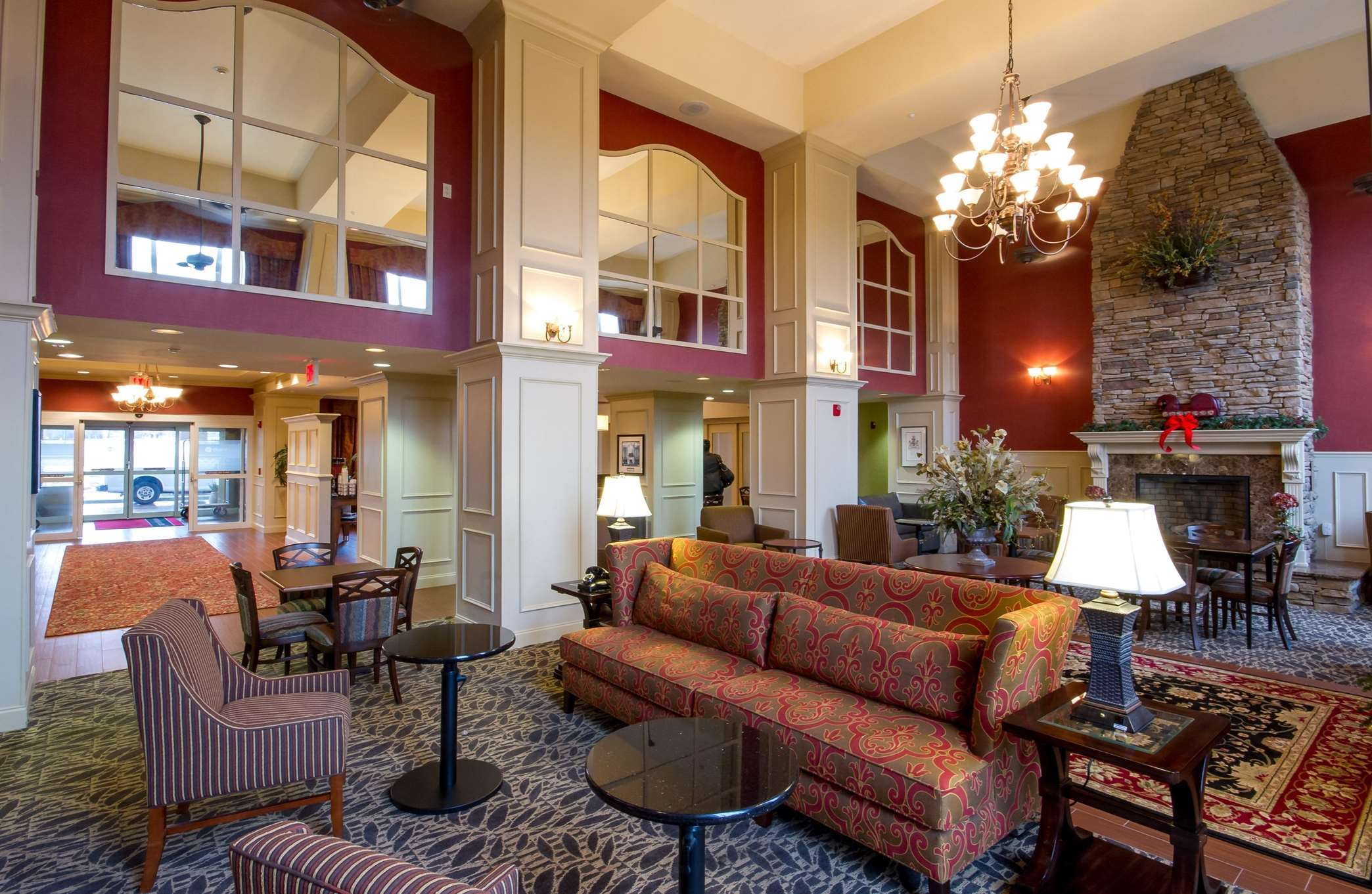 Lobby Seats and Fireplace