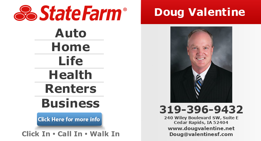 Doug Valentine   State Farm Insurance Agent 240 Wiley Boulevard S.W. Suite  E Cedar Rapids, IA Insurance   MapQuest