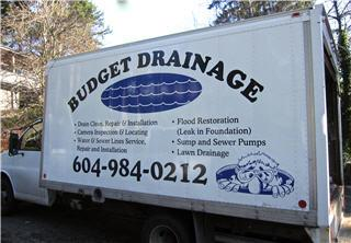 Budget Drainage in West Vancouver