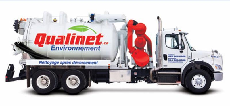 Qualinet à Anjou: Qualinet environment after spilling cleaning